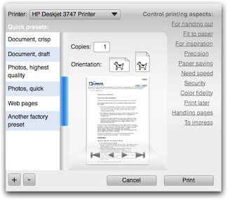 smaller printing dialog, no tags selected