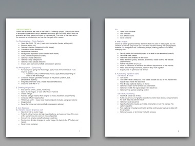the scenarios fit on two pages