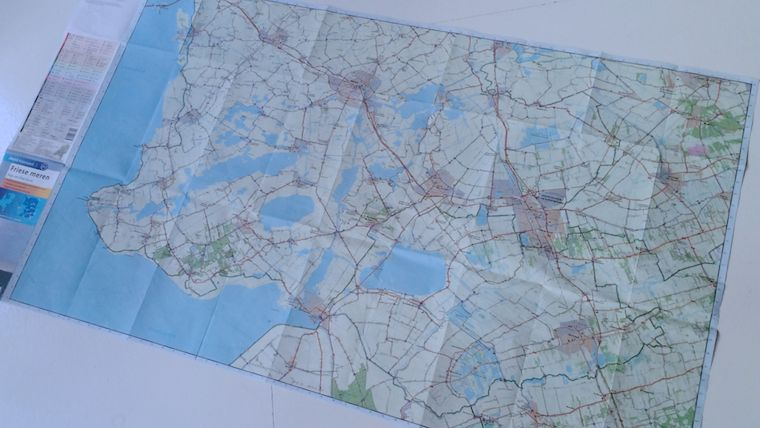 a traditional cycling map that covers a part of holland