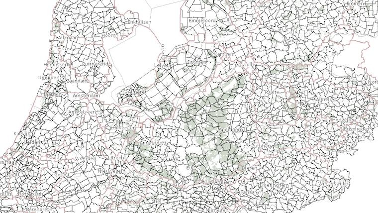 a dense network covers the whole country