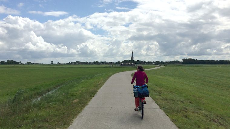 cycling in the dutch fields